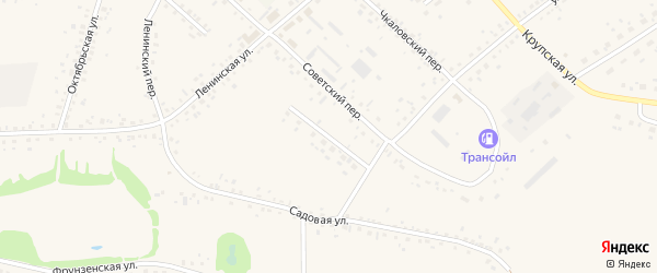 Комсомольский переулок на карте села Романово с номерами домов
