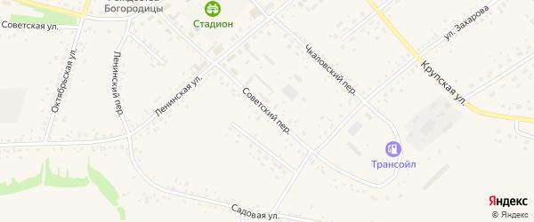 Советский переулок на карте села Романово с номерами домов