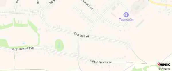 Садовая улица на карте села Романово с номерами домов