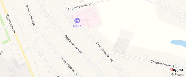 Строительная улица на карте села Романово с номерами домов