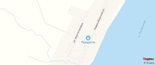 Улица Крутоголовых на карте села Крутихи с номерами домов