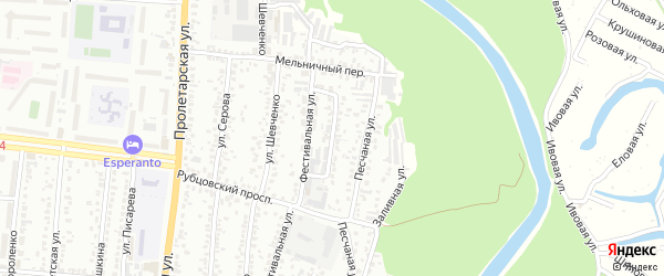 Коммунальная улица на карте Рубцовска с номерами домов