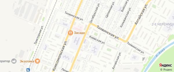 Киевская улица на карте Рубцовска с номерами домов