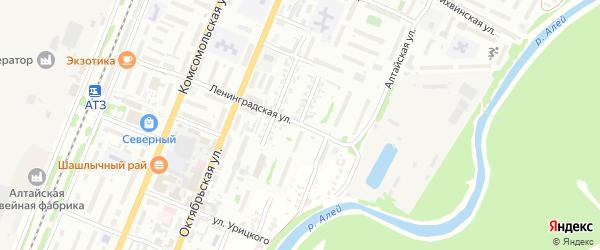 Севастопольская улица на карте Рубцовска с номерами домов