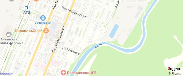 Донская улица на карте Рубцовска с номерами домов