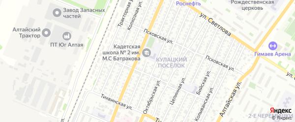 Молодежная улица на карте Рубцовска с номерами домов