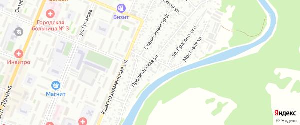 Новичихинский переулок на карте Рубцовска с номерами домов