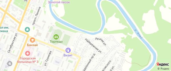 Набережная улица на карте садового некоммерческого товарищества N 1 с номерами домов