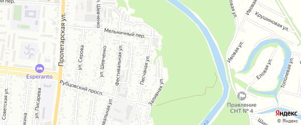 Песчаная улица на карте садового некоммерческого товарищества N 13 с номерами домов