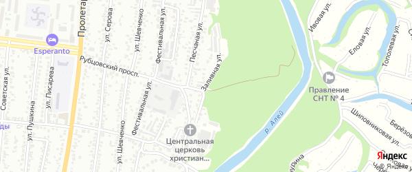 Заливная улица на карте Рубцовска с номерами домов