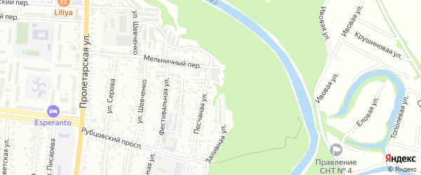 Песчаная улица на карте садового некоммерческого товарищества N 3 с номерами домов