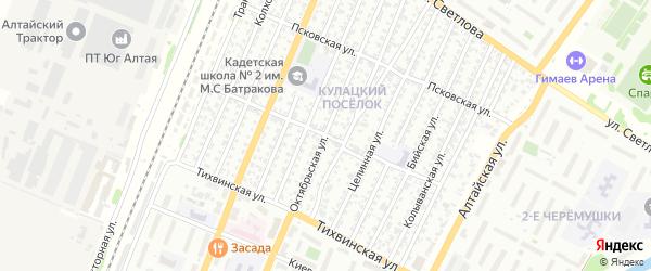 Пензенская улица на карте Рубцовска с номерами домов