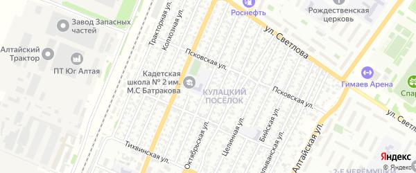 Змеиногорская улица на карте Рубцовска с номерами домов