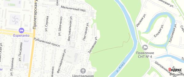 Заливная улица на карте садового некоммерческого товарищества N 3 с номерами домов