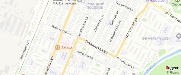 Целинная улица на карте садового некоммерческого товарищества N 3 с номерами домов