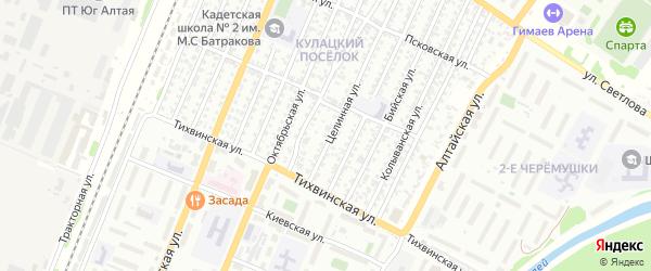 Целинная улица на карте садового некоммерческого товарищества N 11 с номерами домов