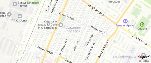 Томская улица на карте Рубцовска с номерами домов
