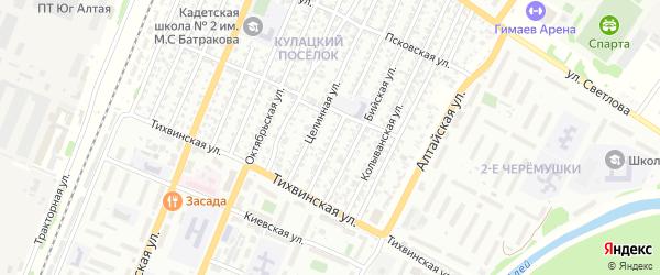 Весенняя улица на карте садового некоммерческого товарищества N 13 с номерами домов