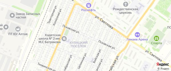 Псковская улица на карте Рубцовска с номерами домов
