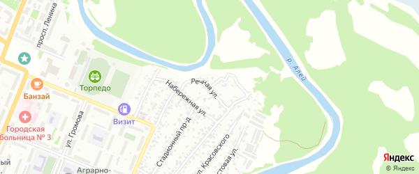 Речная улица на карте Рубцовска с номерами домов