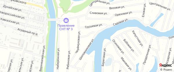 Гороховая улица на карте садового некоммерческого товарищества N 3 с номерами домов