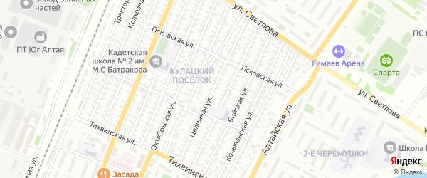 Целинная улица на карте Рубцовска с номерами домов