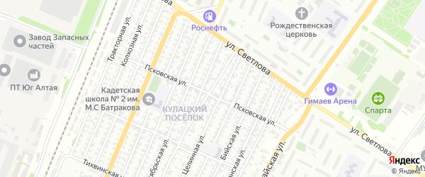 Барнаульская улица на карте Рубцовска с номерами домов