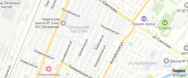 Весенняя улица на карте Рубцовска с номерами домов