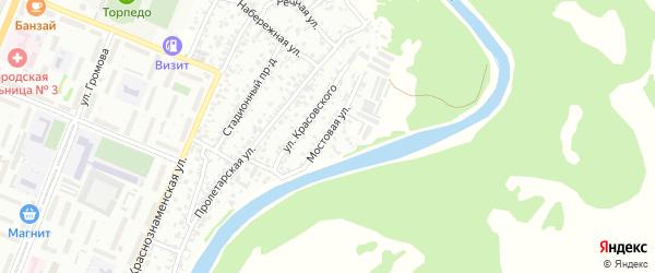 Мостовая улица на карте Рубцовска с номерами домов