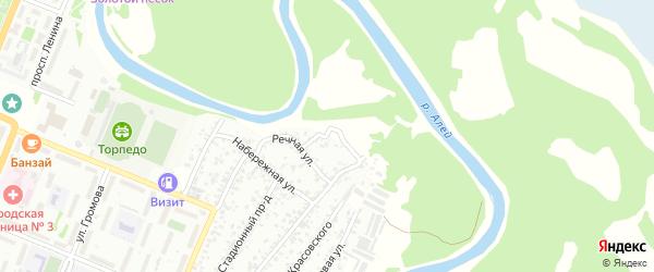 Береговая улица на карте Рубцовска с номерами домов