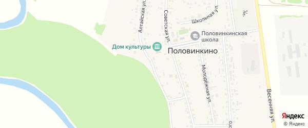 Алтайская улица на карте села Половинкино с номерами домов