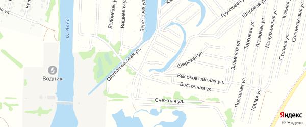 Сторожевая улица на карте садового некоммерческого товарищества N 3 с номерами домов