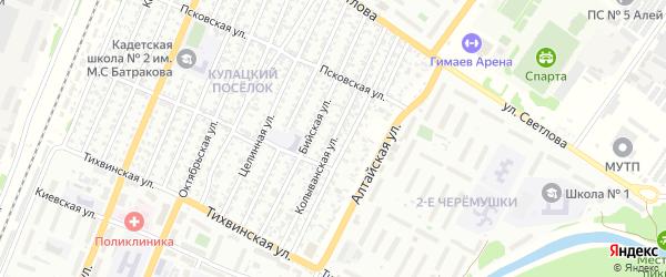 Колыванская улица на карте Рубцовска с номерами домов