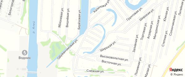Клубничная улица на карте садового некоммерческого товарищества N 3 с номерами домов
