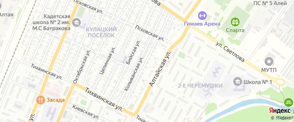 Байкальская улица на карте Рубцовска с номерами домов