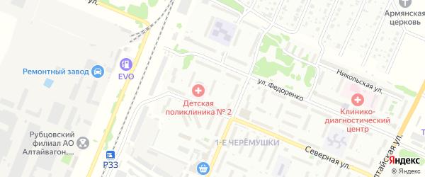 Северная улица на карте садового некоммерческого товарищества N 7 с номерами домов
