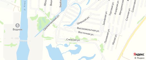 Высоковольтная улица на карте садового некоммерческого товарищества N 3 с номерами домов