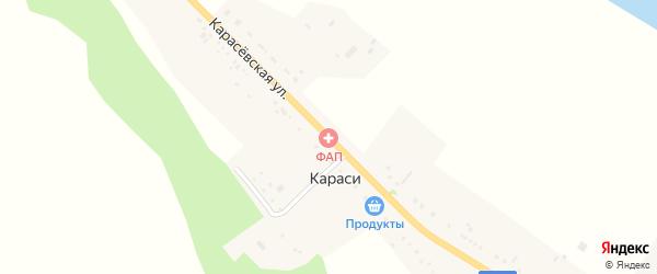 Карасевская улица на карте поселка Караси с номерами домов