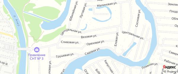 Вязовая улица на карте садового некоммерческого товарищества N 3 с номерами домов