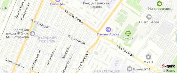 Балхашская улица на карте Рубцовска с номерами домов