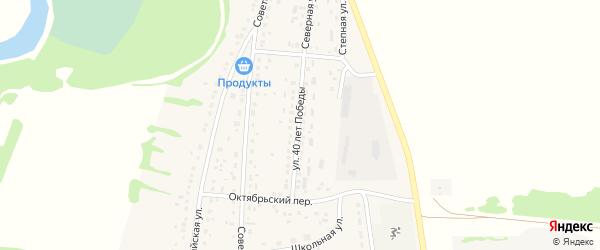 Улица 40 лет Победы на карте села Половинкино с номерами домов