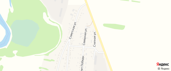 Северная улица на карте села Половинкино с номерами домов