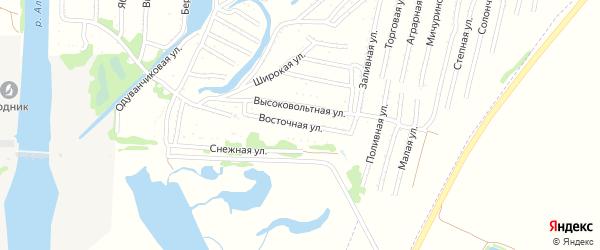 Восточная улица на карте садового некоммерческого товарищества N 3 с номерами домов
