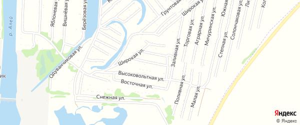 Кольцевая улица на карте садового некоммерческого товарищества N 3 с номерами домов