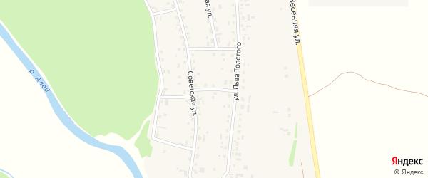 Алейский переулок на карте села Половинкино с номерами домов