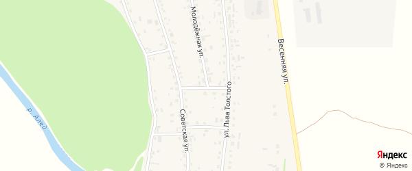Южный переулок на карте села Половинкино с номерами домов