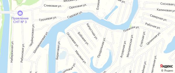 Огуречная улица на карте садового некоммерческого товарищества N 3 с номерами домов