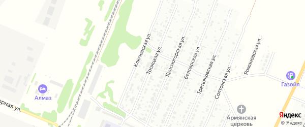 Троицкая улица на карте Рубцовска с номерами домов