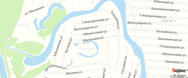 Малиновая улица на карте садового некоммерческого товарищества N 14 с номерами домов