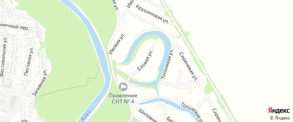 Еловая улица на карте садового некоммерческого товарищества N 11 с номерами домов